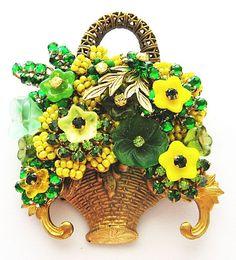 Stanley Hagler Flower Basket Brooch