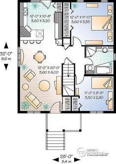 Rez-de-chaussée Modèle à partir de 119,000$ de 2 chambres, cuisine avec comptoir-lunch  - Arthur