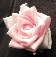 Kanzashi style rose