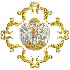 PELICANO NA MOLDURA