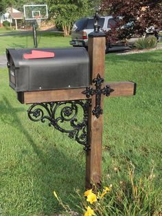Cross Themed Wrought Iron Mailbox Dress Up Kit