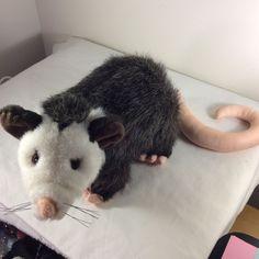 "Fiesta Toys Plush Possum Plush Stuffed Animal 10"" Long Tail Length 8"" Brown #Fiesta"