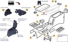 Jeep Console Parts | Jeep Parts for Cherokee XJ | Morris 4x4 Center
