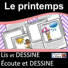 La classe de Caro: Thème: Le printemps Core French, French Classroom, Expressions, Second Language, Teaching French, Learn French, Boutique, About Me Blog, Teacher