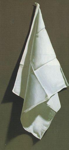 """Mouchoir Pendu"" Pintura hieper-realista de Pierre Gilou, (1989)"