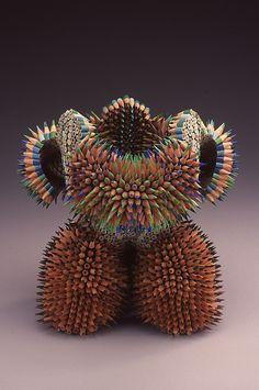 Jennifer Maestre unique pencil sculptures