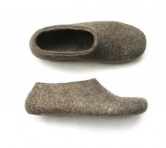 Felted Eco Friendly Wool Slippers