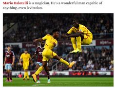 Balotelli looks like he is floating but it was only for a second