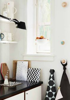 home office space | black and white