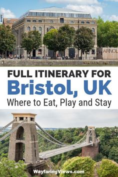 Figure out what to do in Bristol with this detailed guide. It includes twelve things to do in Bristol that combine history with a modern urban edge. Bristol England, Bristol Uk, Travel Advice, Travel Guides, Travel Tips, Travel Hacks, Clifton Bridge, Play And Stay, European Travel