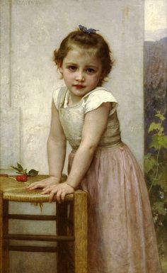 French Painter: William Adolphe Bouguereau (1825 – 1905) -   --'Yvonne'