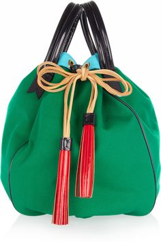 Meredith Wendell Color-block canvas circle bag