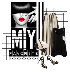 """""""My favorite"""" by noconfessions ❤ liked on Polyvore featuring Etienne Deroeux, Solid & Striped, Lipsy, Charlotte Olympia, blackandwhite and stripedculottes"""