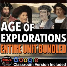Age of Exploration Complete Unit Bundled includes Age of Exploration PowerPoints with video and presenter notes. Unit also includes, warm up PowerPoints, informational text documents with questions, primary source lessons, map, exit tickets, Explorer Scrapbook Project, crossword review, Kahoot! revi... History Lesson Plans, World History Lessons, Political Cartoon Analysis, Political Cartoons, Teaching Social Studies, Teaching History, Middle Passage, Daily Lesson Plan, Exit Tickets