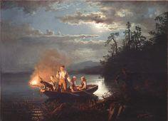 Hans Gude (1825-1903), Lystring på Krøderen - 1851