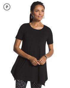Chico's Women's Zenergy Petite Jenna Short Sleeve Tunic