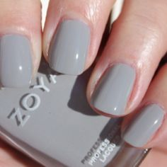 Perfectly gray nails. Eeyore would approve :)