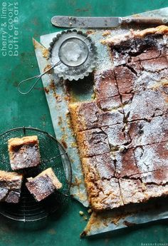 Chocolate and Lime Ooey Gooey Butter Bars