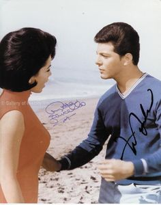 FRANKIE AVALON - PHOTOGRAPH SIGNED CO-SIGNED BY: ANNETTE FUNICELLO