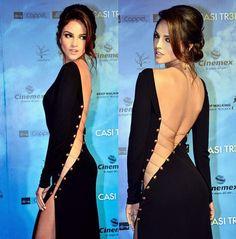 Natalia Jimenez wore this SAME exact dress for the Premios Tu Mundo awards. Someone is definitely trying to look like Eiza Gonzalez!
