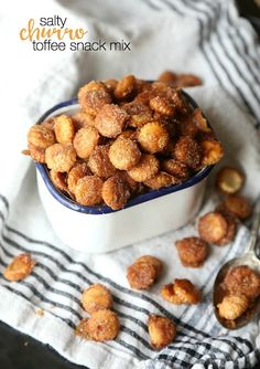 Cookies and Cups Salty Churro Toffee Snack Mix - Cookies and Cups