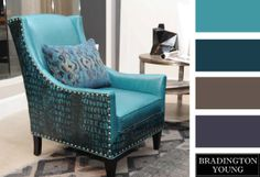 Bradington Young Color Palette: Aqua  www.bradingtonyoung.com