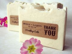 Wedding Favor Soaps - custom personalized rustic wedding party favors - full size 4 oz bars