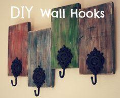 Thrifty Craftoholic: DIY Wall Hooks