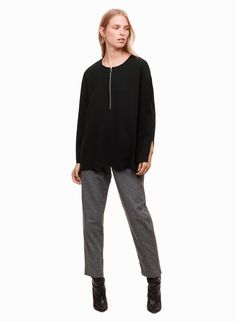 This blouse is made from a lightweight Japanese crepe that has a soft, matte texture and a beautiful drape. A front zipper detail plays up the vintage inspiration. Short Sleeve Blouse, Sleeveless Blouse, Long Sleeve, Japanese Crepes, Fashion 2017, Blouses For Women, Normcore, Denim, Winter 2017