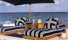 blue and white beach house style