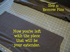 home+something: DIY T-Shirt Extender Tutorial