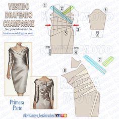Dress Patterns, Sewing Patterns, Pattern Dress, Sewing Techniques, Pattern Fashion, Sewing Projects, Barbie, Womens Fashion, Kebaya