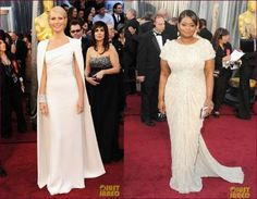 The Oscar can also inspire many brides to be! Look at them!