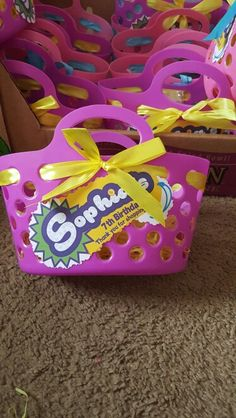 Shopkins goody baskets!!! Made by ME!!