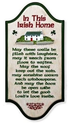 """In This Irish Home"" Irish Blessing x Wall Plaque Irish Prayer, Irish Blessing, St Paddys Day, St Patricks Day, Irish Quotes, Irish Sayings, Irish Poems, Irish Proverbs, Irish Eyes Are Smiling"