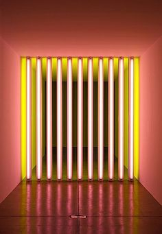 untitled (to Barry, Mike, Chuck and Leonard). Installation art by Dan Flavin. Bühnen Design, Collage Kunst, Modern Art, Contemporary Art, Dan Flavin, Instalation Art, Light And Space, Art Moderne, Action Painting