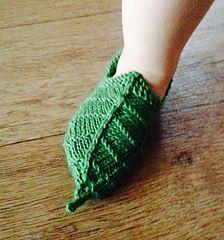 Elf leaf bootie lotr knitting pattern children