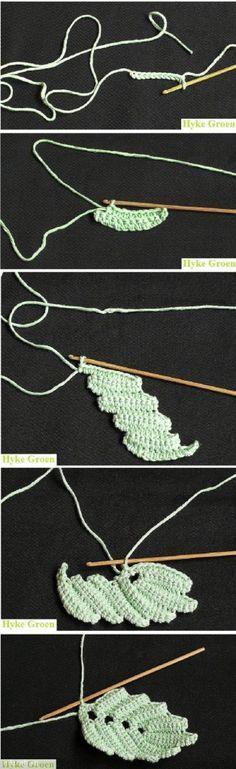 Freeform crochet motifs: how to make an Irish Crochet Leaf