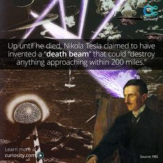"""Tesla was born on this day in 1856. The """"death beam"""" was but one of his many unrealized inventions—learn about the secret notes that possibly contained their plan."""