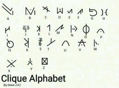 clique alphabet- someone made up these symbols