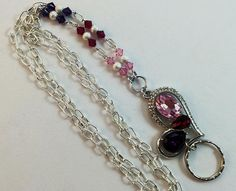 Crystal Heart Lanyard Swarovski Elements  Lanyard  by SusieQ4You