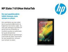 "HP G3N02EA SLATE VOICETAB PXA1088 1 GB RAM 16 GB HAFIZA 7"" ANDROID :: Hepgidiyor Slate, Android, Phone, Chalkboard, Telephone, Mobile Phones"