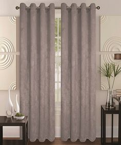 Look at this #zulilyfind! Gray Roma Blackout Curtain Panel - Set of Two by Glory Home Designs #zulilyfinds