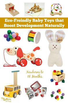 Toys made of wood and other natural materials provide a rich sensory experience for the developing baby. This gift guide contains Waldorf and Montessori inspired eco-friendly baby toys that boost development naturally.