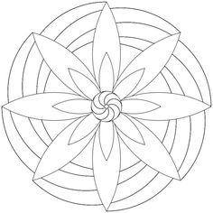 Mandala-Ausmalbild Nr. 47