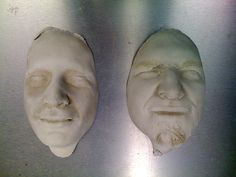 Making castings of things is a lot of fun, and casting a face is fun PLUS all the weirdness of having something looking like you lying around, hard, c...