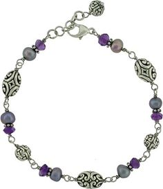 Serenity Silver Bracelet parts for sale at Nina Designs. Shop for silver beads and silver clasps!