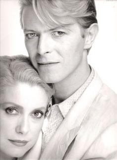 "Catherine Deneuve & David Bowie in ""The Hunger"""