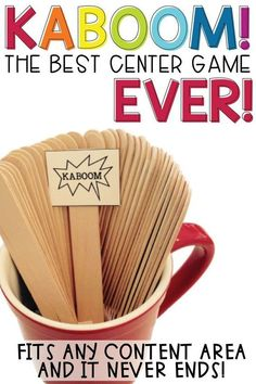 Kaboom! This is easily the BEST CENTER GAME EVER! It's fun, engaging, easily adaptable to ANY content, and it never ends! It's the perfect activity for your fast finishers, and great for practicing math facts and sight words! Definitely a classroom MUST HAVE!