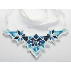 Cross stitch handmade necklace